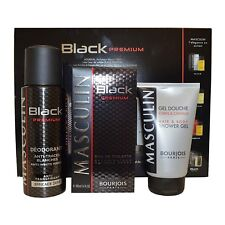 Bourjois Masculin Black Premium for Men 100ml Eau de Toilette Spray Gift Set