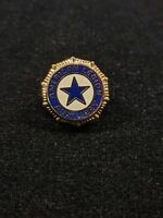 Vintage Gold Tone Blue white Star American Legion Auxiliary Pin 12863