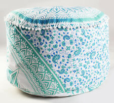 Indian Ombre Mandala Ottoman Foot Stool Pouf Cover Handmade Pouffe Cotton Decor