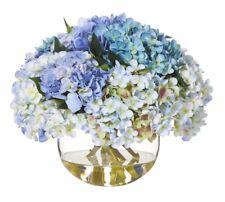 Rogue Fake Flower Arrangement W Artificial Water Hydrangea Mix Avery Blue 28 Cm