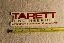 """TARETT EngineeringCompetition Suspension sticker. Approximately 6.5"""" wide."""