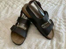 Birkenstock BETULA Leather Slingback Sandals ~ Women 9 ~ Dark Brown ~ EX Shape