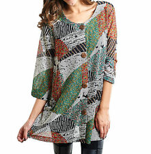 $110, NWT, Sz. 14, Joseph Ribkoff Multicolored Patchwork Button Up Top, msrp$235