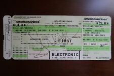 Serena Williams Autograph First Class Boarding Pass MIA 2002 American Airlines