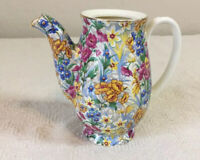 Antique SUSSEX CHEERY CHINTZ Erphila Bavaria Creamer Or Individual Tea Pot