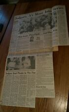 Vintage Baseball Clippings Los Angeles Dodgers Oakland A'S World Series lot Rare