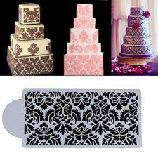 1pc Damask Lace Cake Stencil Cupcake Sugarcraft Decorating Side Baking Tool Mold