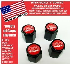 Billet Aluminum Dodge Challenger SRT Hellcat 392 Hemi Red Valve Stem Caps