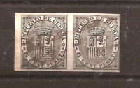 1874 Escudo de España - IMPUESTO DE GUERRA - Edifil 141s** PAREJA VC. 24,00