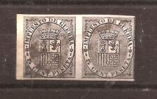1874 Escudo de España - IMPUESTO DE GUERRA - Edifil 141s** PAREJA VC. 24,00 raro