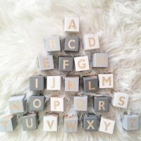 1Pcs Neutral Wooden Alphabet Block Letters Baby Educational Early Nursery Decor
