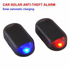 Luz LED falsos solar coche alarma sistema de Seguridad Advertencia Robo Flash Parpadeante #