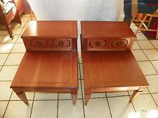 Pair of Cherry Mid Century Mersman Step End Tables Side Tables  (BM-T96)
