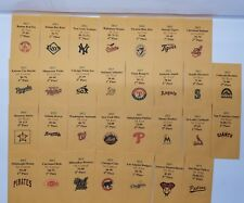 2013 Strat-O-Matic Baseball Printed Storage Envelopes with Stats and Team Logo