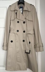 M&S COLLECTION  Pure Cotton Longline Trench  Stormwear PRP £79 BNW