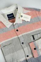 RRP €99 SCOTCH & SODA Men's X LARGE Multicolored Woven Long Fit Shirt 3070 mm