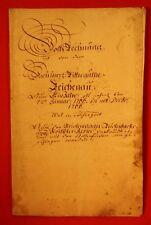 Reichenau 1766 - Holz-Rechnung von dem Hoch Herrz.Ritterguthe Reichenau auf 1 Ja