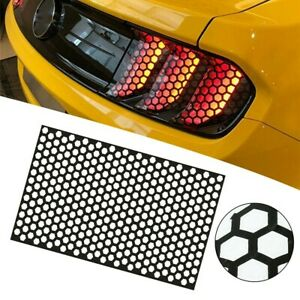 Honey-comb Sticker Tail-lamp Black Car Rear Tail Light Cover Decal Accessories