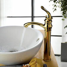 Centerset Bathroom Basin FAUCET Tap Ti-PVD Finish Golden Contemporary Lavatory