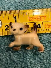 Hagen Renaker Pottery Siamese Kitten Cat Mini Miniature Porcelain Figurine
