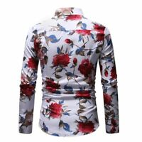 Formal dress shirt slim fit tops long sleeve casual t-shirt luxury stylish men's