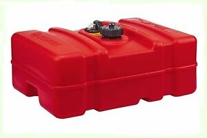 Scepter 08669 Rectangular Fuel Tank Transfer Gas Cans 12 Gallon Low Profile, Red