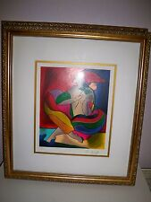 Linda Le Kinff Constellation Nude Woman Framed  Colorful Vibrant 58/350 signed
