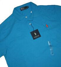 Polo Ralph Lauren Small Pony Solid Medium Blue Kurzarm Poloshirt Gr.M & XL