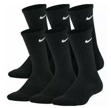 Nike Everyday Cotton Cushioned Crew Socks Black 6 Pair DRI-FIT Large Pack Men's