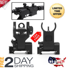 Premium Tactical Flip Up Backup Battle Iron Sights Co-Witness Front and Rear New