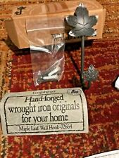 New listing Longaberger Foundry Collection (Maple Leaf) Wrought Iron Wall Hook-New in Box