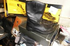 SITE GRAVEL RIGGER BLACK LEATHER SAFETY WORK BOOTS - STEEL TOE SIZE 11/45- AA398