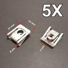 5X Cuerpo Recortar Panel Tuerca,Bajo Bandeja Motor Cubierta Tuerca para BMW Audi