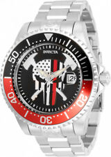 Invicta 47mm Grand Diver First Responder Fire Fighter Auto Skull American Watch