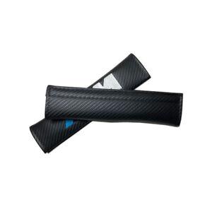 2Pcs M Power Seat Belt Shoulder Pads Black Carbon Fiber Car Shoulder Cushions