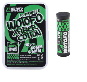 (10-Pack) Authentic Wotofo XFIBER Profile RDA Cotton + (10-Pack) Mesh Coils 0.18