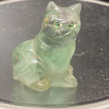 fluorite Cat Figurine