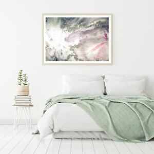 Pink Grey & White Abstract Design Print Premium Poster High Quality choose sizes