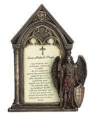 "7.5"" Saint Michael Prayer Photo Frame Archangel Angel St Miguel Home Decor"