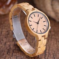 Luxury Men's Women's Full Bamboo Wood Watch Analog Quartz Wristwatches Fashion