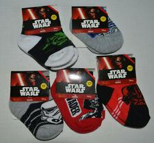 Lot 5 Pair Star Wars/Yoda/Vader/R2D2 Toddler Boy Socks Size 4-5.5 Shoe 1-5