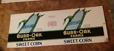 BURR-OAK CORN CAN LABEL RARE FILE Copy 1920s MADISON CANNING, MT. STERLING OHIO