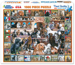 World of Dogs 1000 piece jigsaw puzzle  760mm x 610mm  (wmp)