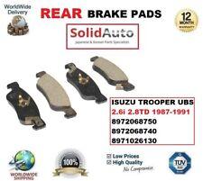 FOR ISUZU TROOPER UBS 2.6i 2.8TD 1987-1991 REAR BRAKE PADS 8972068750 8972068740
