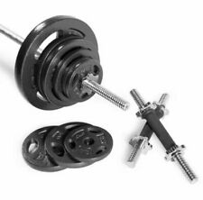 110 LB Barbell Weight Set - with Dumbbell Handles - CAP - Standard Size Plates