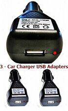 3 x USB Car Chargers - 5v output - Charge Phones Tablets From Your Car