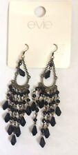 Drop Earrings Gorgeous Black & Bronze Gem Stone Chandelier Horse Shoe earing 99p