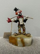 1984 Ron Lee Signed Clown Figurine Sculpture Sad Hobo Hitchhiker