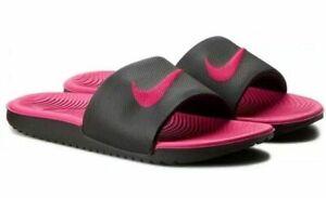 NWT Girls Youth Nike Kawa Slide Sandals Black/Pink