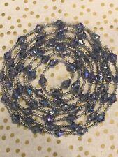 Vintage Christmas Garland Iridescent Purple Blue Silver 9'